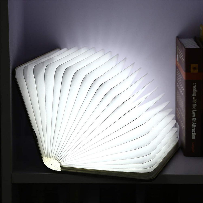 ZOYNZ Hlzerne Buch Lampe Augenschutz Lernen Tischlampe Intelligente Aufladung LED Tischlampe Klapplampe