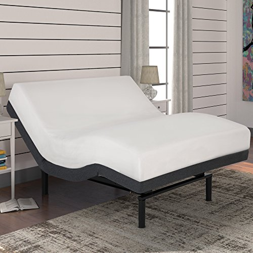 Fashion Bed Group S-Cape+ 2.0 Adjustable Bed, Queen, Charcoal Gray