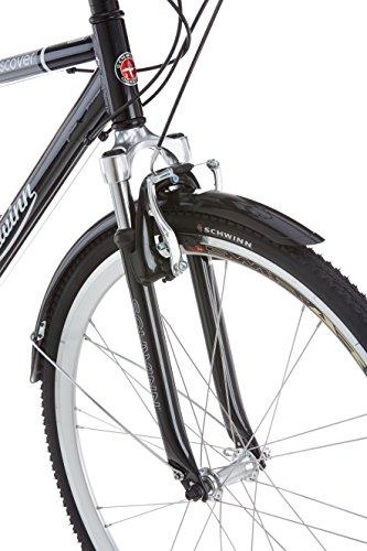 Schwinn Discover Hybrid Bike for Men, Black