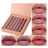 6Pcs Matte Liquid Lipstick Makeup Set, Matte liquid Long-Lasting Wear Non-Stick Cup Not Fade Waterproof Lip Gloss (Set B)