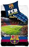 BERONAGE Wende-Bettwäsche FC Barcelona Camp NOU Bordeaux/blau 100% Baumwolle - Linon/Renforcé -...