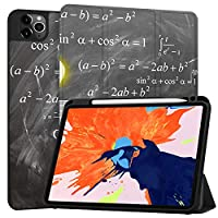 MAITTAO Case For New iPad Pro 12.9 inch 4th Generation 2020 with Apple Pencil Holder, Soft TPU Back Stand Smart Cover with Auto Sleep/Wake, Support iPad Pencil Wireless Charging, Creative Bulb 18