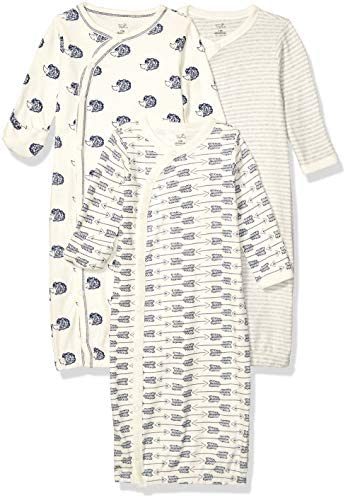 Touched by Nature unisex baby Organic Cotton Kimono Nightgown Hedgehog 0 6 Months US product image