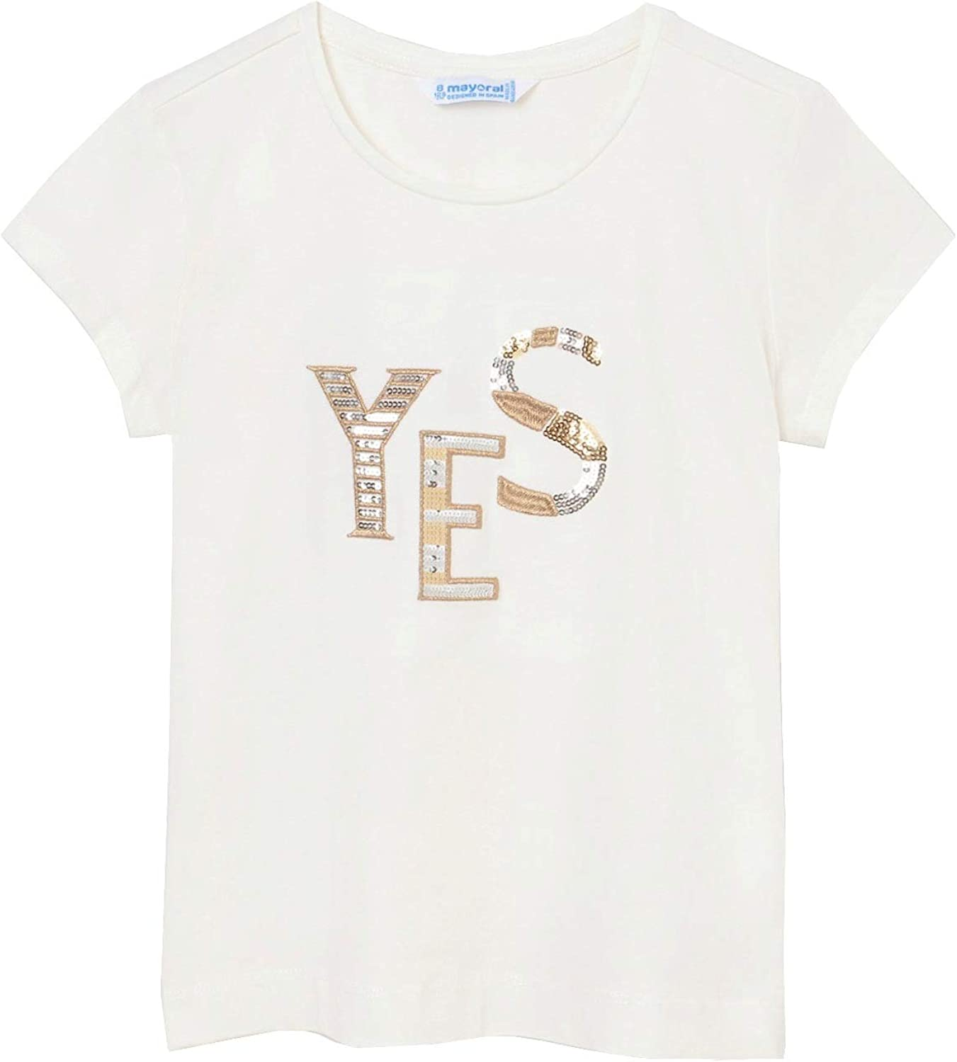 Mayoral - Basic s/s t-Shirt for Girls - 0854, Natural