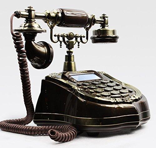 YSNUK Teléfono Europeo Antiguo jardín Retro tecnología número de teléfono Fijo Fijo Teléfono rotatorio (Color : A)