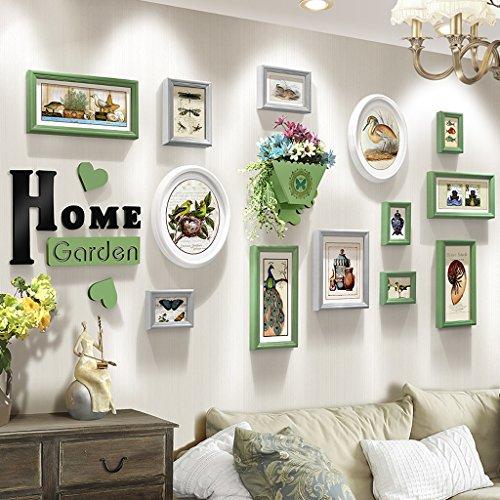 OLDJTK Neoklassizistischen Bilderrahmen Wand Wohnzimmer Restaurant Schlafzimmer Wandbehang Foto Wand Blume Rack Kombination (Color : A)