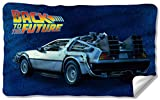 Universal Studios Delorean - Back to The Future - Fleece Throw Blanket (36'x58')