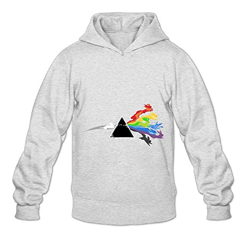 NG R Adult's Pink Floyd Eevee Evolution Workout Hoodie with No Pocket Ash X-Large