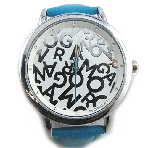 Morgan [N2409] - Armbanduhr 'French Touch' 'Morgan' türkis (Monogramm).