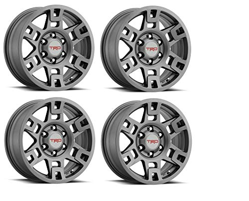 Genuine Toyota 4Runner TRD PRO Matte Gray Wheels PTR20-35110-GR (Fits: 4Runner - Tacoma - FJ Cruiser) (4)