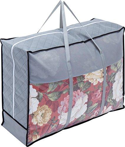 アストロ 羽毛布団 収納袋 シングル・ダブル兼用 グレー 不織布 活性炭消臭 持ち手付き 171-42