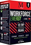 Workforce - All Day Sustained Energy Booster for Men and Women, Extended Release Caffeine Pills, Zinc, KSM-66 Ashwagandha, Theacrine, ZumXr - No Crash or Jitters Energy, Stress Relief, 45 Caps