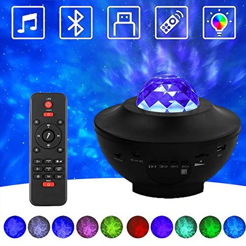 CozyCabin Starry Night Light Projector Lamp with Remote, Bluetooth Galaxy Night Projector Light for Parties Wedding Birthday Bedroom Romantic Home Decoration, USB Powered