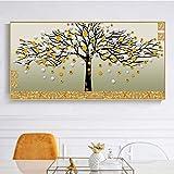 KWzEQ Arte de la Pared Cartel Resumen Dinero Decoración Árbol Sala de Estar Decoración del hogar,Pintura sin Marco,60x120cm