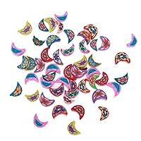 freneci 50Pairsポリマークレイスペーサービーズ塗装ラウンドジュエリー作りDIY工芸品 - 盛り合わせ, 12mmx8mmx4mm