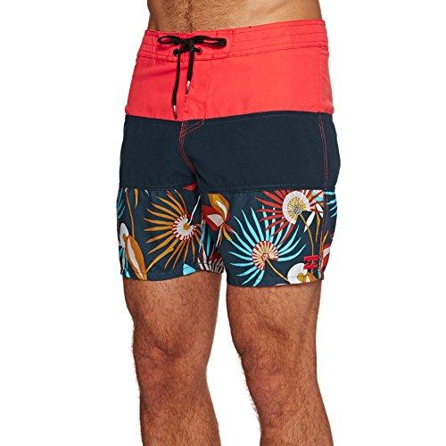BILLABONG Tribong Og Print 17, Pantaloncini Spiaggia Uomo, Rosso Acceso, 28