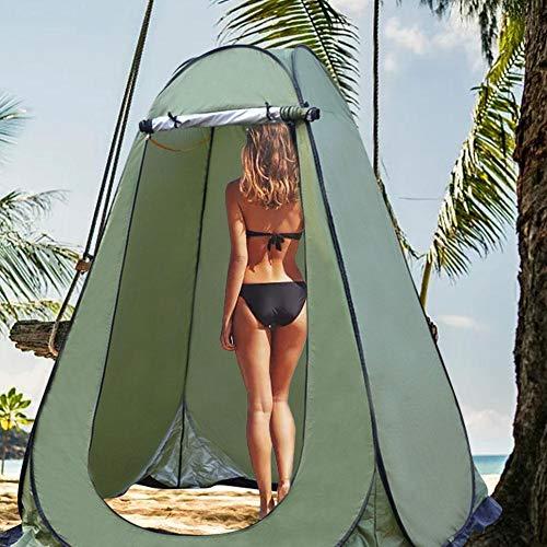 Augproveshak Upgrade Pop Up Pod Umkleidekabine Privatzelt, Sofort tragbares Außenduschzelt mit Reißverschlusstür, Camp-Toilette, Regenschutz für Camping und Strand, mit Tragetasche - Zwei Größen