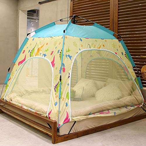 YXZN Bettzelt, Indoor Privacy Spielzelt für warmen und gemütlichen Schlaf in zugigen Zimmern, tragbares Bettdach mit Tragetasche für Kinder und Erwachsene