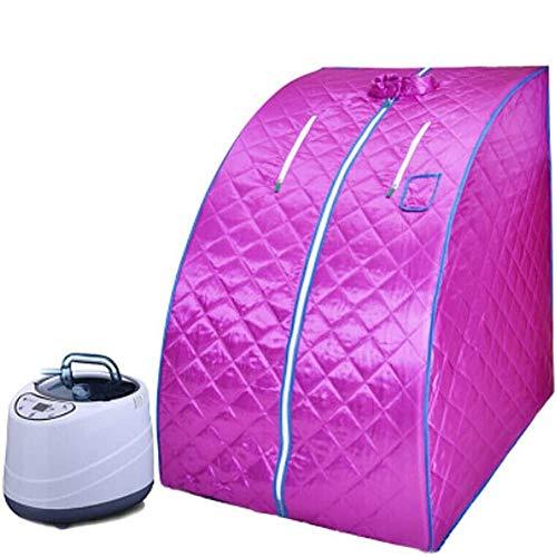 GFSD Tragbare Dampfsauna, Fernbedienungstemperatur Sauna Spa Sachine Geeignet for Frauen Zur Entgiftung, Verschönern, Abnehmen und Stress Abbauen (Color : Purple)