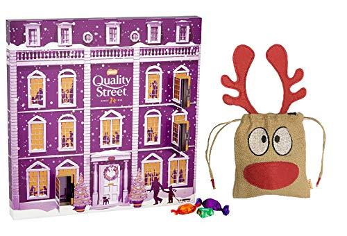 NEW 2018 Nestle Quality Street Large Advent Calendar 229g | British Christmas Candy Chocolate UK English Advent Calendar | British Christmas Shop | Imported from UK | Handmade Basically British Reinde