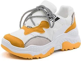 40c3907725d9 Femme Chaussure Basket Mode pour Multisport Outdoor Sneaker Antichoc  Chaussure Casual Tendance a Lacet Résistant à