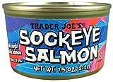 Wild Caught Sockeye Salmon (Pack of 3), 7.5 oz Can - Trader Joe's