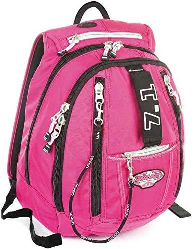 Seven Zaino scuola e tempo libero round - MP7 - Rosa 25 LT