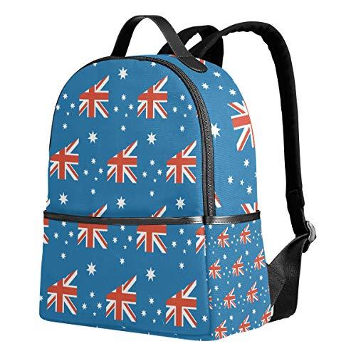 Unisex Rucksack mit Aufschrift Heard and McDonald Islands Flagge, Segeltuch, Freizeitrucksack, Schule und Student