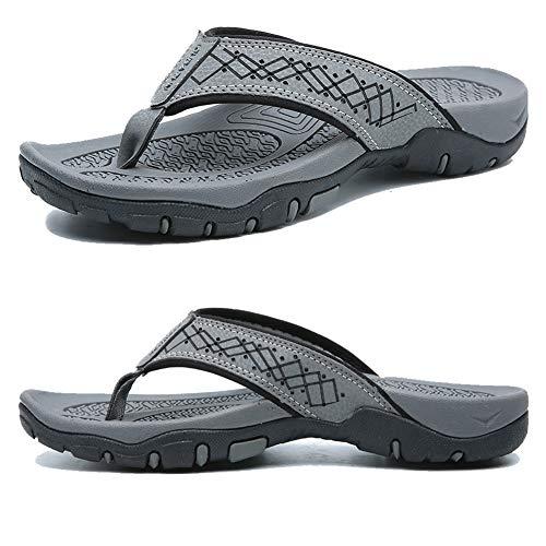 KIIU Comfortable Flip Flop Slippers for Men Casual Sandals Beach...