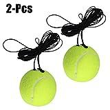 JUSTDOLIFE Pelota de entrenamiento de tenis Práctica de autoaprendizaje Ejercicio Pelota de tenis Bola de rebote con cuerda para entrenador de tenis
