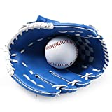 Dtcat Gants de frappeur Sportif,Gants de Softball,pichets,épaississement Parents-Enfants,Mains Gauche et Droite,sans Ballon @ Blue_10.5,Lanceur pour gaucher