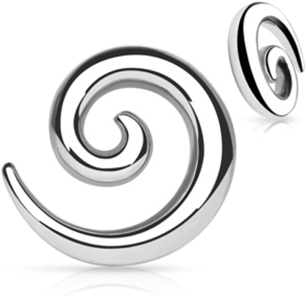 Spiral latest Stainless Steel WildKlass Taper Sold Max 43% OFF Pair a as