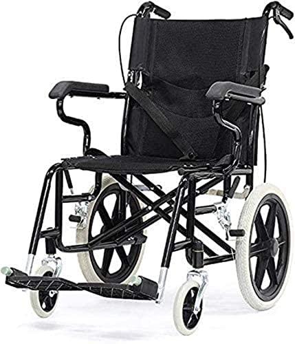 Silla de Ruedas portátil, Ultra liviano y Marco Plegable for Caminar Silla de Viaje de tránsito for Ancianos, discapacitados