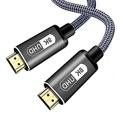 CONNYAM 2 Pack (6.5ft/ 2m) 8K HDMI 2.1 Cable Ul...