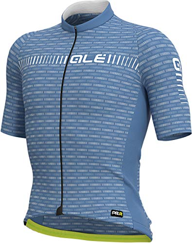 Alé Cycling Graphics PRR Green Road - Maillot de ciclismo de manga corta para hombre, color gris y blanco, primavera/verano, Hombre, color gris/blanco, tamaño large