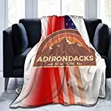 Gwager Adirondacks New York Warm Throw Blanket Sofa Blanket Movies Blanket for Bed Couch Living Room Blankets
