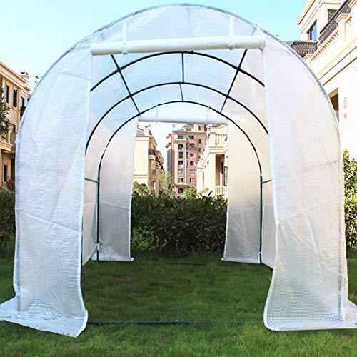 Invernaderos Plastico huerto terraza Blanco Extra Grande, casa de Cultivo para jardín...