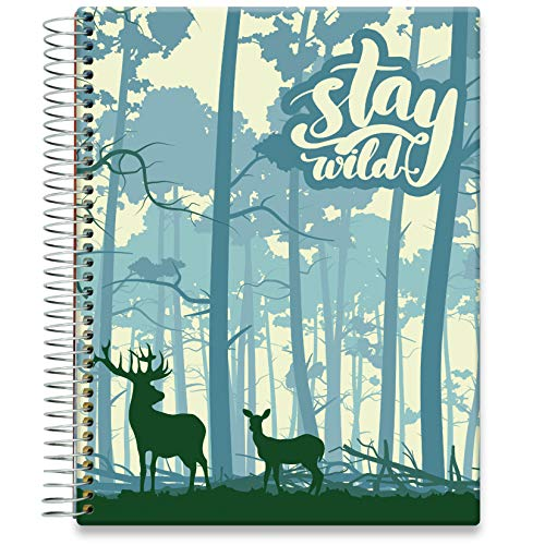 Tools4Wisdom Daily Planner 2021-2022 - Inclusive June 2021 - 8.5 x 11 Hardcover - Full Color Academic Planner Calendar - Vertical Weekly Planner Layout - Q2S15 - Stay Wild Forest Cover