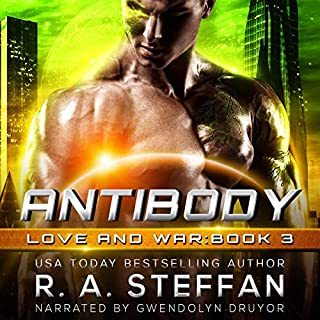 Antibody     Love and War, Book 3              By:                                                                                                                                 R. A. Steffan                               Narrated by:                                                                                                                                 Gwendolyn Druyor                      Length: 7 hrs and 46 mins     17 ratings     Overall 4.5