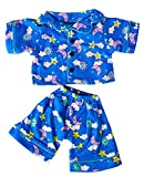 Sunny Days Blue PJ's Teddy Bear Clothes Outfit Fits Most 14' - 18' Build-A-Bear, and Make Your Own Stuffed Animals
