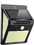 Ibello Luce Solare Esterno Lampada da Parete 144 LED Lampada Solare con Sensore di Movimen...