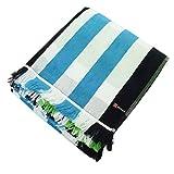 林 ポルト ホワイト&チェック マルチカバー ブルー LE700301(1枚入)