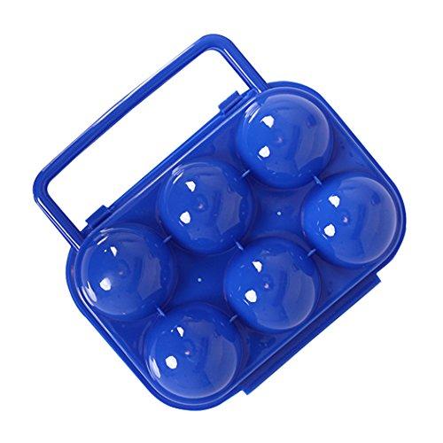 SIPLIV Bandeja de Huevo Huevo Caja de Almacenamiento Plegable Caja de plástico portátil 6 Huevos para la Cocina refrigerador Almacenamiento al Aire Libre de Senderismo Camping