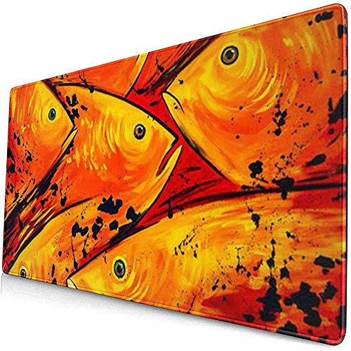 Papageienfisch Extended Gaming Mouse Pad, Dicke große Computertastatur Mousepad Mouse Mat