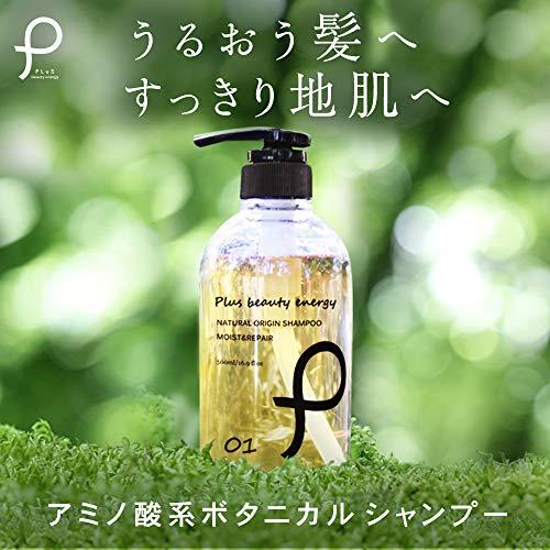 プリュ(ルイール)ナチュラルオリジンモイスト&リペアシャンプー[500ml/ノンシリコン]シャンプーボタニカルアミノ酸(日本製)