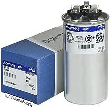 Capacitor Round Original GE/Genteq 45/5 uf MFD 370 volt 27L903 (Replaces Old GE #s 97F9895BX, 27L903BZ3), 45 + 5 MFD at 370 Volts