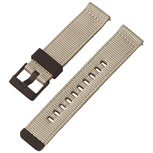 Timex 22mm Fabric Quick-Release Strap – Tan with Black Buckle