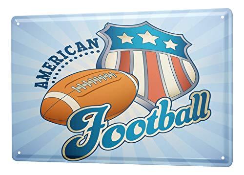 LEotiE SINCE 2004 Blechschild Vintage Retro Metallschild Wandschild Blech Poster Retro American Football