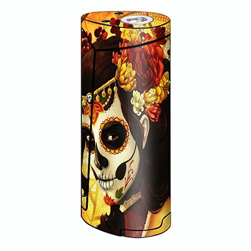 Skin Decal Vinyl Wrap for Smok Priv V8 60w Vape stickers skins cover/ Skull Girl Dia de Los Muertos Paint