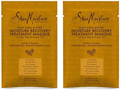 Shea Moisture Raw Shea Butter Moisture Recovery Treatment Masque 2oz 2 Pack product image